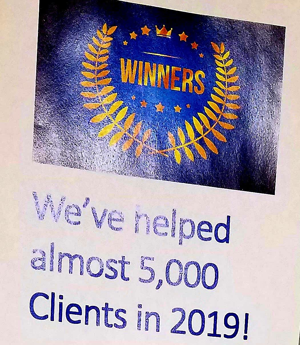 We've helped almost 5000 clients in 2019!